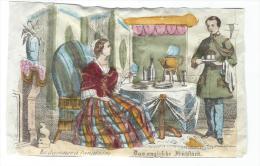 Imagerie Epinal / Pellerin ? /Bilingue Franco Allemande/Le Déjeuner à L'Anglaise/Vers 1850-1870     IM530 - Other