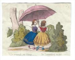 Imagerie Epinal / Pellerin ? /Bilingue Franco Allemande/La Promenade Aux Champs/Vers 1850-1870     IM531 - Other