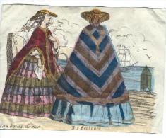 Imagerie Epinal / Pellerin ? /Bilingue Franco Allemande/Aux Bains De Mer/Vers 1850-1870     IM537 - Other