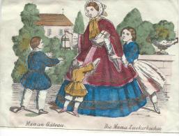 Imagerie Epinal / Pellerin ? /Bilingue Franco Allemande/Maman Gateau/Vers 1850-1870     IM538 - Other