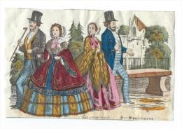 Imagerie Epinal / Pellerin ? /Bilingue Franco Allemande/La PromenadeVers 1850-1870     IM541 - Other