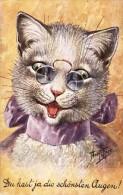 "Arthur Thiele  -  Cat With Pinch-nez : ""You Have The Most Beautiful Eyes"" - Thiele, Arthur"