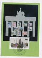 GERMANY / BERLIN-WEST - AK 168630 MC - Postcard + Stamp - MaxiPhil - 1/87 750 Jahre Berlin - Cartoline Maximum