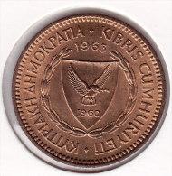 @Y@    Cyprus  5 Mils  1963   UNC  (2581) - Cyprus