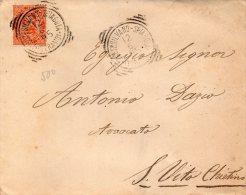 1895 LETTERA CON ANNULLO MONTESILVANO SPIAGGIA PESCARA - 1878-00 Umberto I