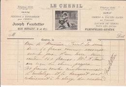 GENEVE .- LE CHENIL .- JOSEPH FUSSTETTER .- ¨PLAIMPALAIS-GENEVE - Switzerland