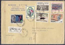 Lettre RECOMMANDEE De NAPOLI  Le 15 9 1971 Pour BOLOGNA Affranchie Avec 6 Timbres - 6. 1946-.. Repubblica