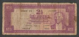 [NC] TURKEY / TURCHIA - 2 1/2 LIRA (1930) KEMAL - Turchia