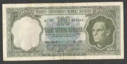 [NC] TURKEY / TURCHIA - 100 LIRA (1930) KEMAL - Turchia