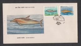 INDIA, 1991,  FDC,  Fauna, Endangered Marine Mammals,  Hyderabad  Cancellation - FDC