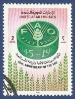 UNITED ARAB EMIRATES - UAE USED 1995 50th ANNIVERSARY OF THE UNITED NATIONS UN AND FAO - United Arab Emirates
