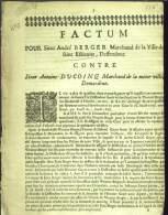 Age 315 Ans ! Pièce De 2 Pages De Procès, En Vieux François ! Vraisemblablement De L´année 1698 - - Unclassified