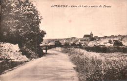 28 EPERNON ROUTE DE DROUE  CIRCULEE 1934 - Epernon