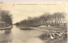 ST-NICOLAS-de-REDON - Les Bords Du Canal - Les Lavandières - 1907 - Autres Communes