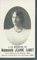 Mademoiselle Jeanne Camut , Née à Athis En 1912 Et Décédée à Petit-Dour En 1933 - Décès