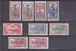 MARTINIQUE - YVERT N°111/119 *  - COTE = 54 EURO - - Martinique (1886-1947)