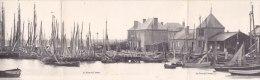 LE CROTOY  - Carte Panoramique Triple - Le Port  -  Bateaux De Pêche  -  Chantier De Construction De Bateau - Le Crotoy