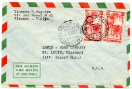 Italy 1952 Cover Mailed To USA - 6. 1946-.. Repubblica