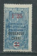 Oubangui N° 70  XX Timbres Avec Nouvelles Valeur : 1 F. 25 Siur 1 F. Bleu Et Outremer  Sans  Charnière, TB - Ungebraucht