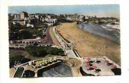 Biarritz Vue Couleur De La Grande Plage Et La Piscine Edit Chataigneau 8 807 - Biarritz