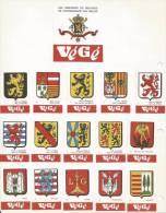 Boites D'allumettes Belgique - Etiquettes Végé Série Complète De 84 Pièces (armoiries Villes Et Provinces) + 1 Grande - Zündholzschachteln