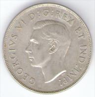 CANADA 50 CENTS 1946 AG SILVER - Canada