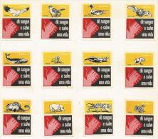 Portugal 12 étiquettes D'animaux (série Complète) - Matchbox - Matchbox Labels