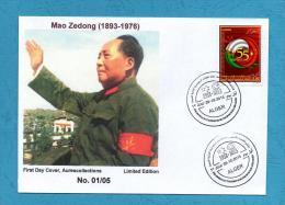 Algeria China, FDC Mao Zedong, Mao Tse-Tung, Mao Tse Tung, 55th Anniv. Diplomatic Relations Algerie Chine 2013 MNH ** - Mao Tse-Tung