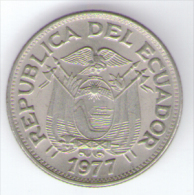 ECUADOR  50 CENTAVOS 1977 - Ecuador
