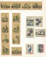 Tchécoslovaquie 18 étiquettes De Boites D'Allumettes: Tourisme - Štítky Matchbox - Matchbox Labels