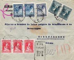 TURQUIE LETTRE RECOMMANDEE POUR LA SUISSE 1929 - Nuevos