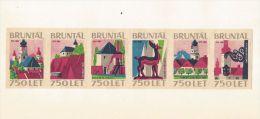 Tchécoslovaquie 6 étiquettes Bruntal 750 Let (Štítky Matchbox) - Boites D'allumettes - Etiquettes