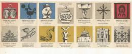Tchécoslovaquie 14 étiquettes (Štítky Matchbox) Uméni XIX. Stoleti Et Baroki Uméni - Matchbox Labels