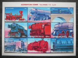 Azerbaijan 1996 Trains Locomotives ** MNH #Mi.Klb.277/85 - Treinen