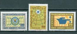 TÜRKEI - Mi-Nr. 1938 - 1940 Fertigstellung Der CENTO-Fernmelde-Projekte Postfrisch - 1921-... Republik