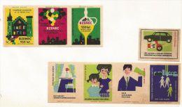 République Tchèque Ex-Tchécoslovaquie 8 étiquettes (Štítky Matchbox) - Vigne Et Vie Quotidienne - Matchbox Labels
