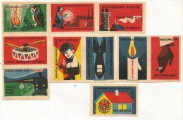 Tchécoslovaquie (Štítky Matchbox) - 10 étiquettes Sécurité - Boites D'allumettes - Etiquettes