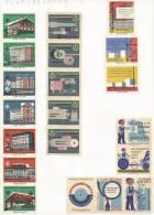 Tchécoslovaquie 20 étiquettes (Štítky Matchbox) - Hotellerie Et Industrie - Matchbox Labels
