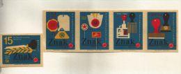 Boites D'allumettes Tchécoslovaquie (Štítky Matchbox) - 5 étiquettes Sur L'Imprimerie - Matchbox Labels