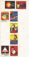 Boites D'allumettes Tchécoslovaquie 8 étiquettes (Štítky Matchbox) Sur L'Hygiène - Matchbox Labels