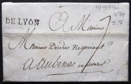 MARQUE LINEAIRE De LYON            18/11/1766          Indice  7 - 1701-1800: Précurseurs XVIII