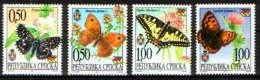 Bosnia Serbia 2001 Butterflies, Fauna, Set MNH - Papillons