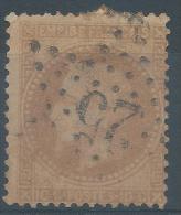 Lot N°23606   N°28B, Oblit  étoile Chiffrée 25 De PARIS ( R. Serpente ) - 1863-1870 Napoléon III Lauré