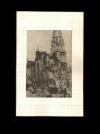 44 - NANTES - Photo Issue D'un Journal Et Collée Sur Bristol - Bombardements - Septembre 1943 - Place Royale - Guerre, Militaire