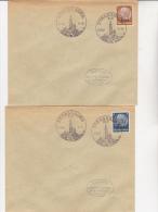 16 LETTRES AFFRANCHIES AVEC LA SERIE N° 8 A 23 TIMBRES HINDENBOURG SURCHARGES ALSACE - OBLITERATION ILLUSTREE 1940 - Alsace-Lorraine