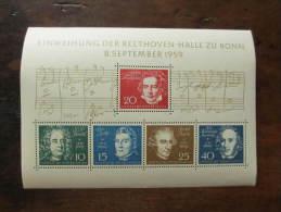 BLOC 1959 NEUF** LUXE COTE 45 EUROS VOIR  SCAN - [7] République Fédérale