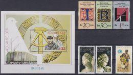 DDR 1989 / MiNr. 3245 - 3247 , 3250 - 3251 , 3275 , Block 100    ** / MNH   (m29) - [6] Oost-Duitsland