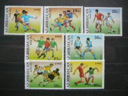 Azerbaijan 1994 World Cup Football Championship In USA ** MNH #Mi.140/6 - World Cup