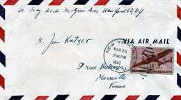 LETTRE PAR AVION  BY AIR MAIL USA ETATS UNIS NEW YORK N Y STA.U AVION - United States