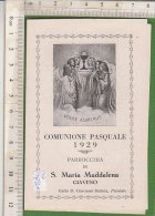 PO2821C# SANTINO - RICORDO COMUNIONE PASQUALE 1929 - PARROCCHIA S.MARIA MADDALENA - GIAVENO - Images Religieuses